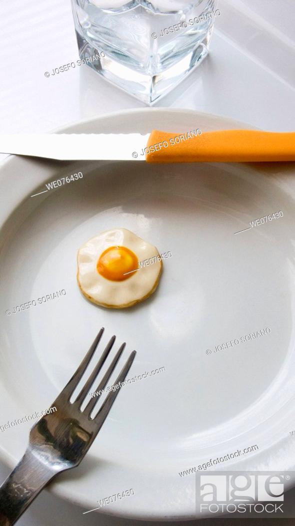 Stock Photo: Fried egg.