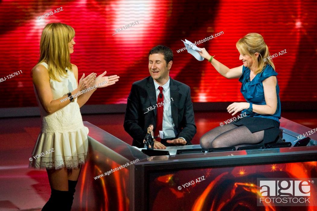 Imagen: 28 11 2010, Milan, 'Che tempo che fa' Telecast RAI 3  Fabio Fazio, Luciana Littizzetto and Filippa Lagerback.
