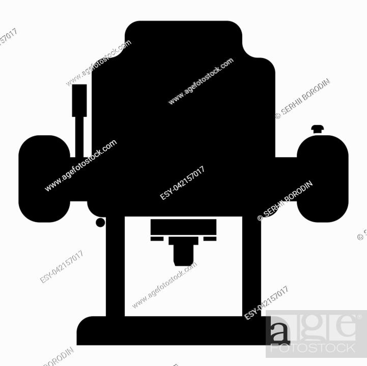 Stock Vector: Milling cutter icon black color vector illustration flat style simple image.