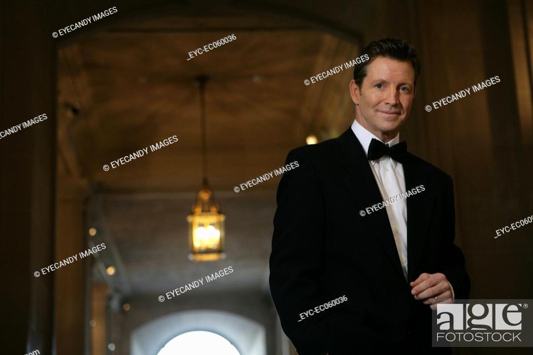 Stock Photo: Mature man wearing a tuxedo.