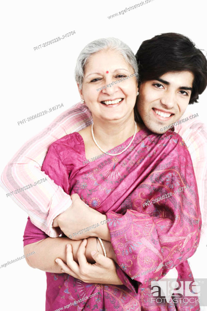 Stock Photo: Portrait of a grandmother with her grandson.