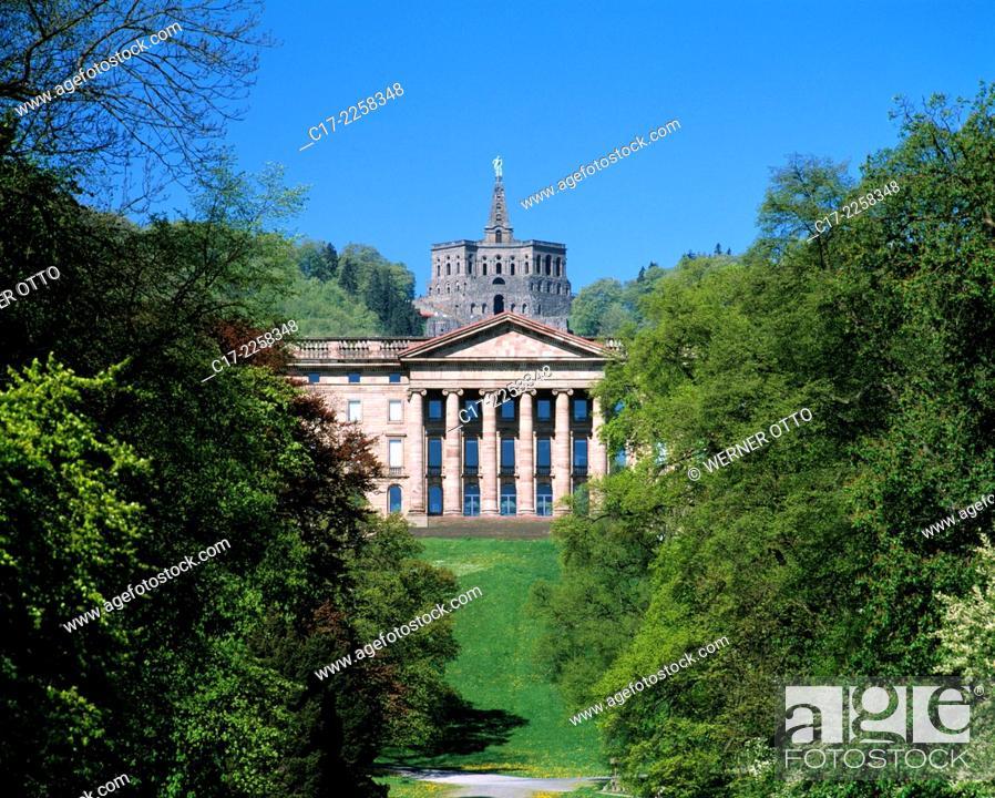 Imagen: Germany, Kassel, Fulda, West Hesse Highlands, Hessian Highlands, Hesse, Kassel-Wilhelmshoehe, Bergpark Wilhelmshoehe, UNESCO World Heritage Site.