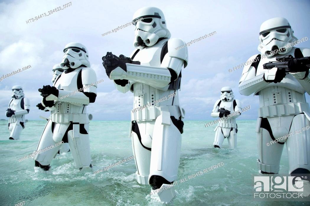 Stock Photo: Rogue One: A Star Wars Story. Stormtroopers.