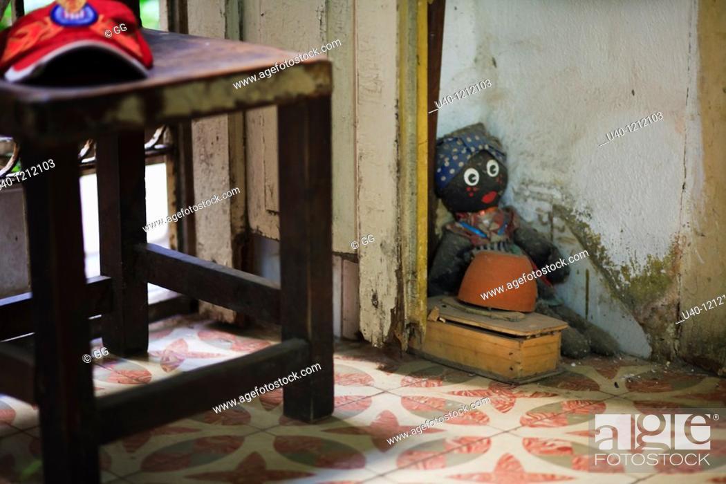 Cuba, Havana Vieja, Santeria doll, Stock Photo, Picture And