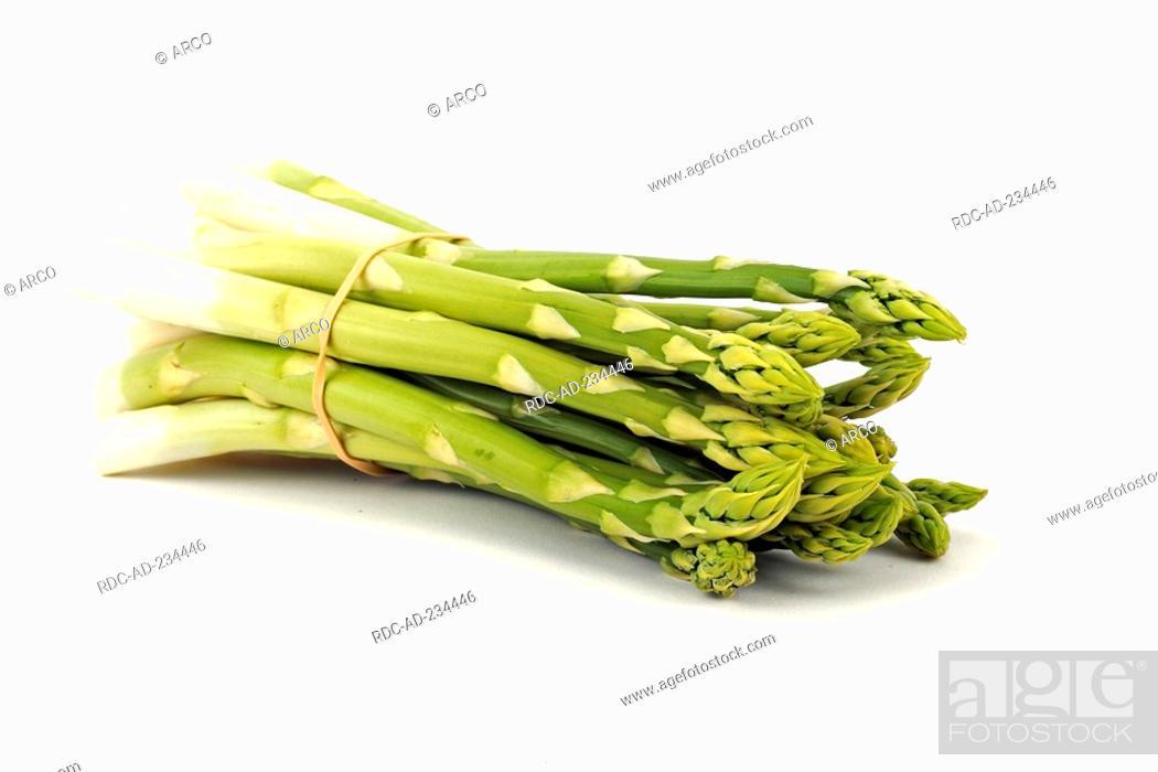 Stock Photo: Green Asparagus, Asparagus officinalis.