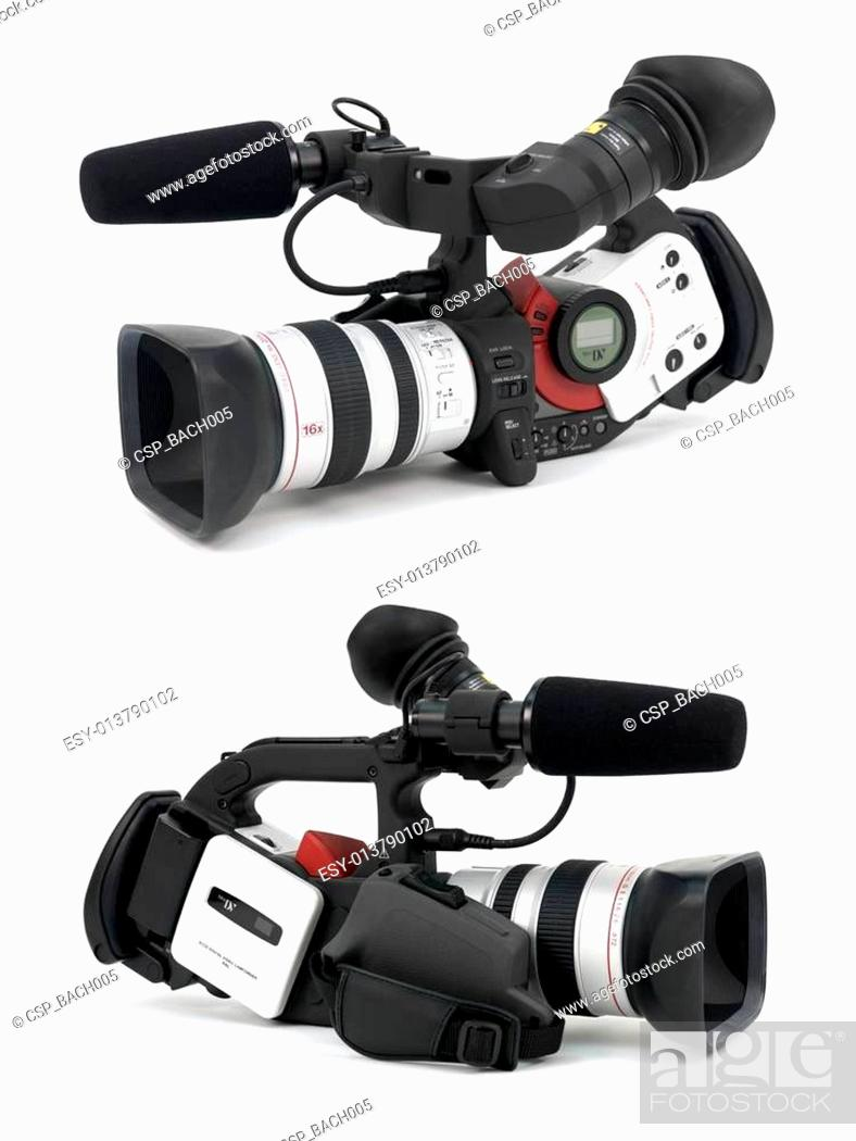 Stock Photo: Professional Video Camera.