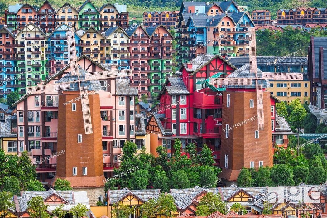 Stock Photo: Bava Manor Resort; Heyuan;Guangdong;China.