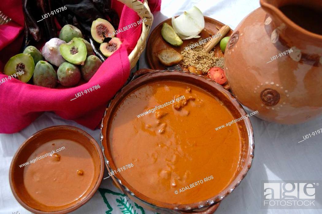 Stock Photo: Mole sauce. Zacatecas. Mexico.
