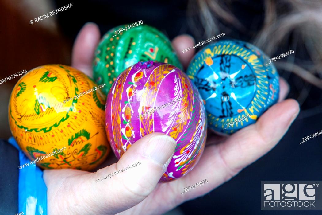 Stock Photo: Traditional easter eggs, Prague Czech Republic, Europe.