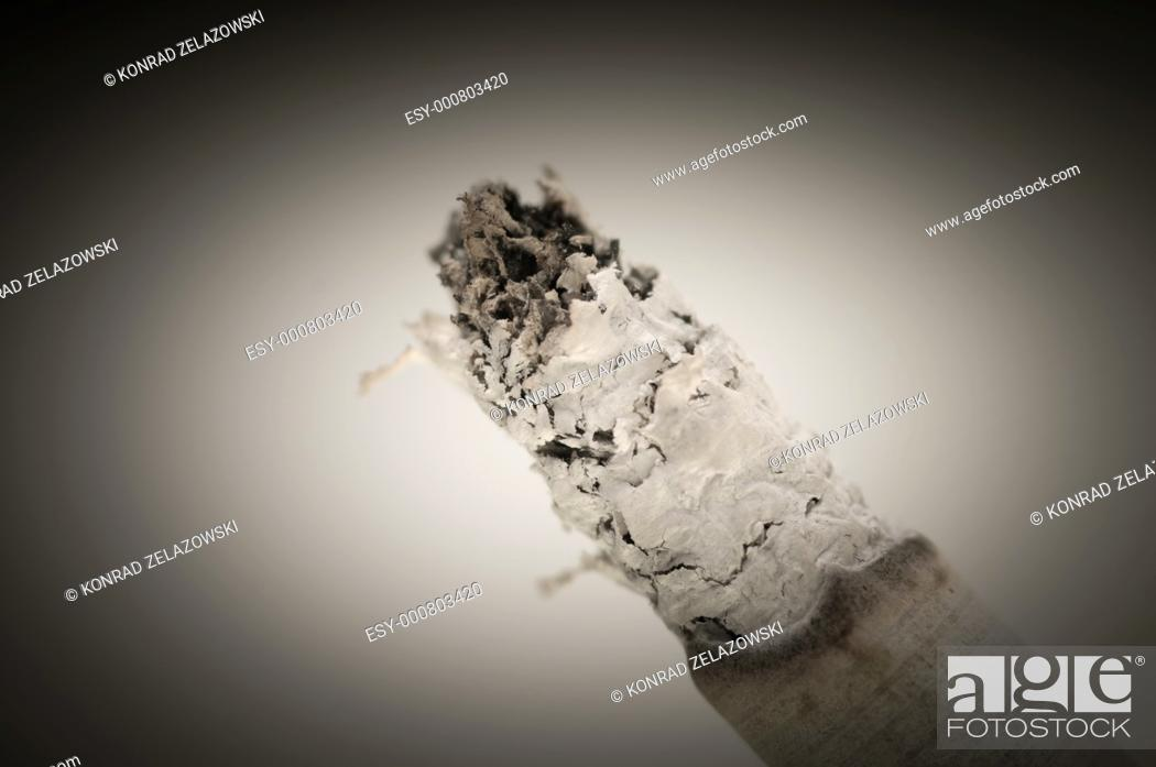 Stock Photo: Close up on a cigarette.