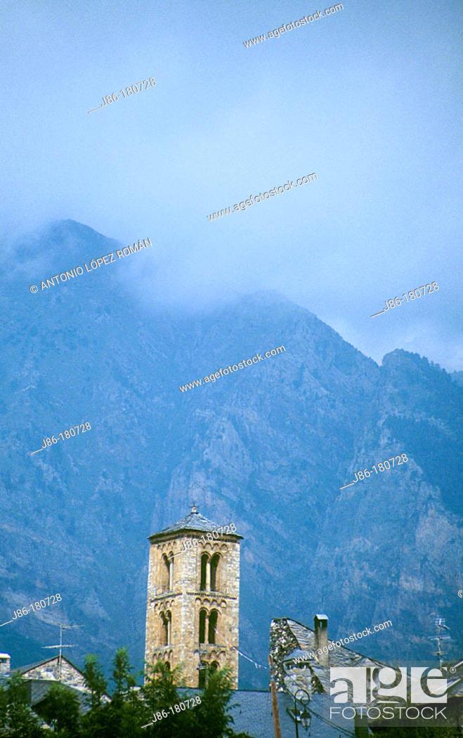 Stock Photo: Church of Sant Climent. Taüll. Lleida province. Spain.