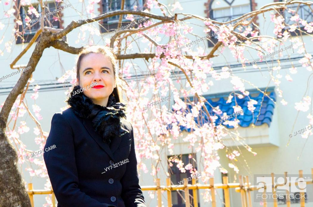 Imagen: Shibuya, Tokyo / Japan - April 4 2012 : French writer AmŽlie Nothomb poses for pictures in Tokyo, Japan. She visited Tokyo to film her documentary show 'La.