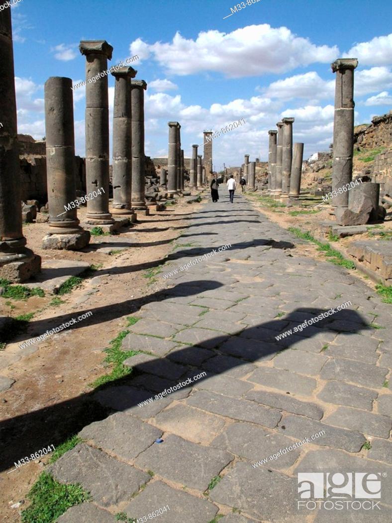 Stock Photo: Roman ruins, Bosra, Syria.