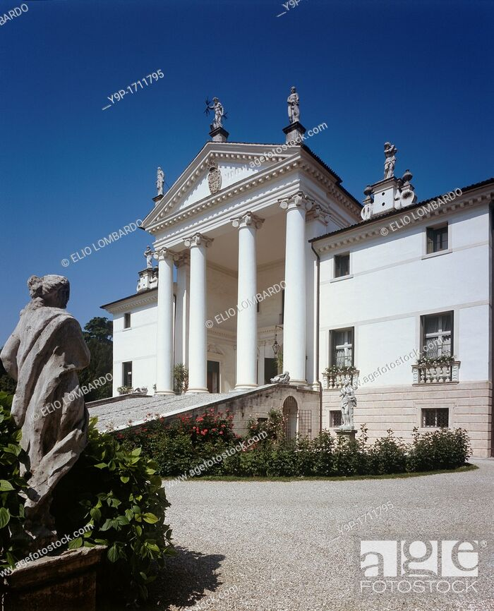Stock Photo: Villa Sandi The Headquarters of the Homonymous Winery  Crocetta del Montello, Treviso, Veneto, Italy.