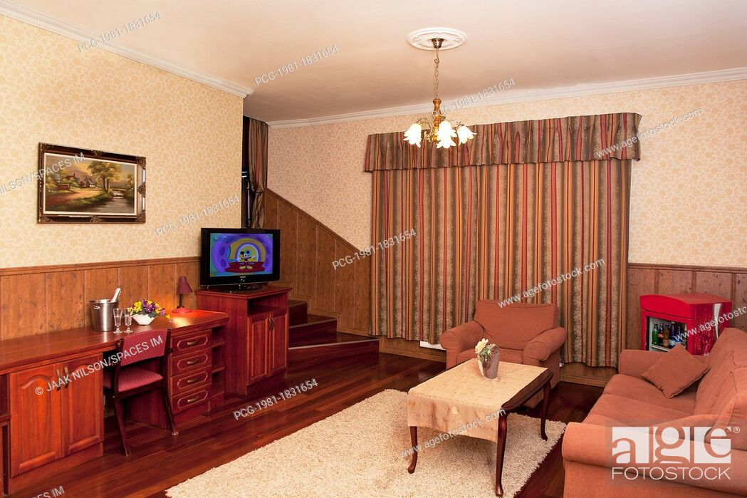 Stock Photo: Comfortable Home Suite Living Room Interior.