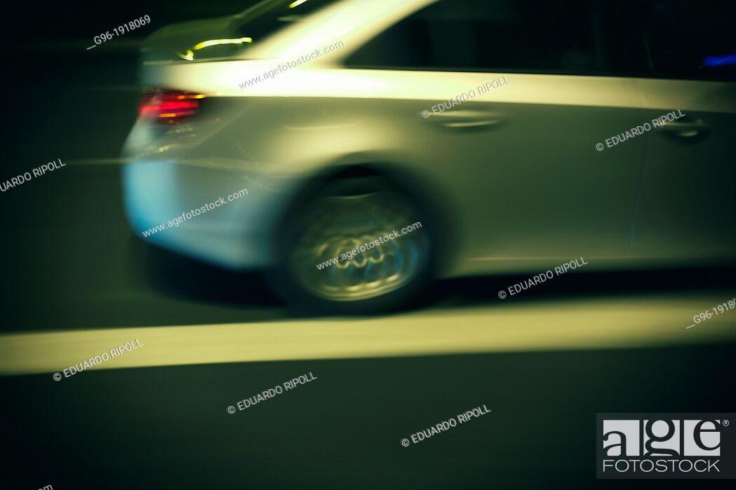 Stock Photo: Panoramic of a car.