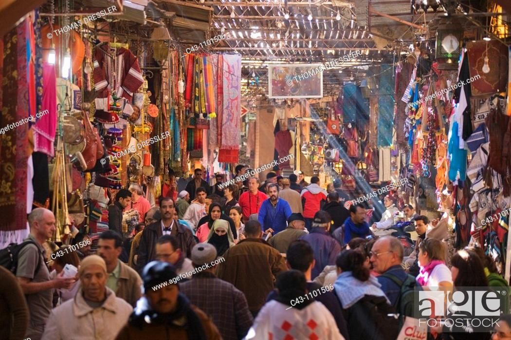 Stock Photo: Morocco - In the souks of Marrakesh.