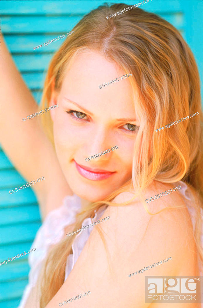 Stock Photo: Portrait of a Young Woman With Blonde Hair.