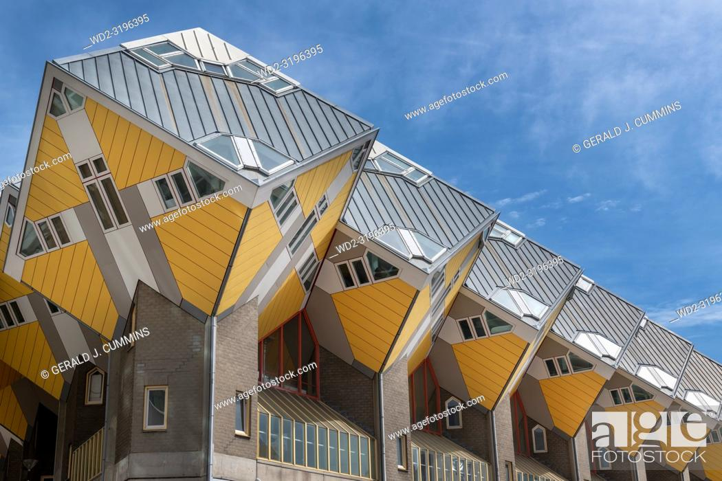 Stock Photo: Yellow Cube Houses, Rotterdam, Holland.