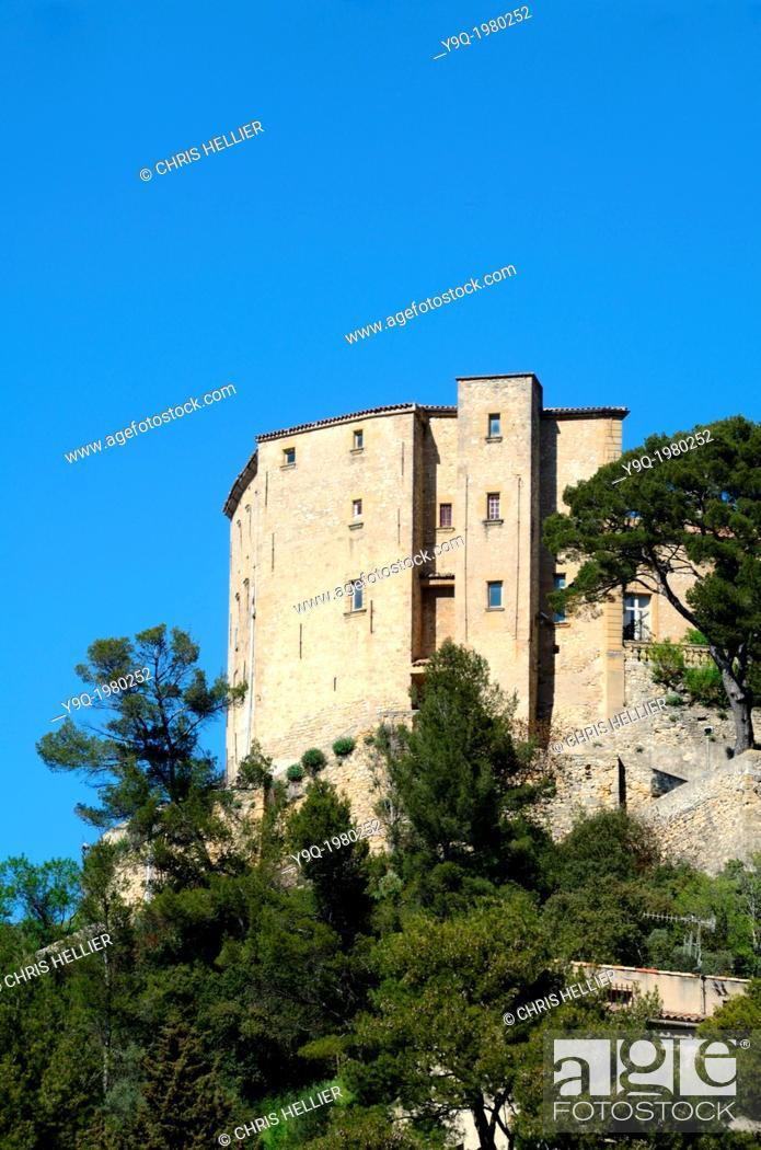 Stock Photo: Meyrargues Château Provence France.