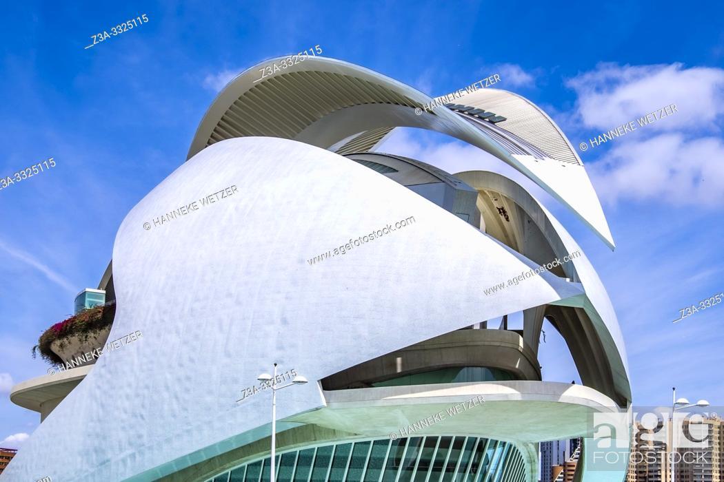 Stock Photo: Palau de les Artes Reina Sofia, Ciudad de las artes y las ciencias, City of Arts and Science, Valencia, Spain, Europe.