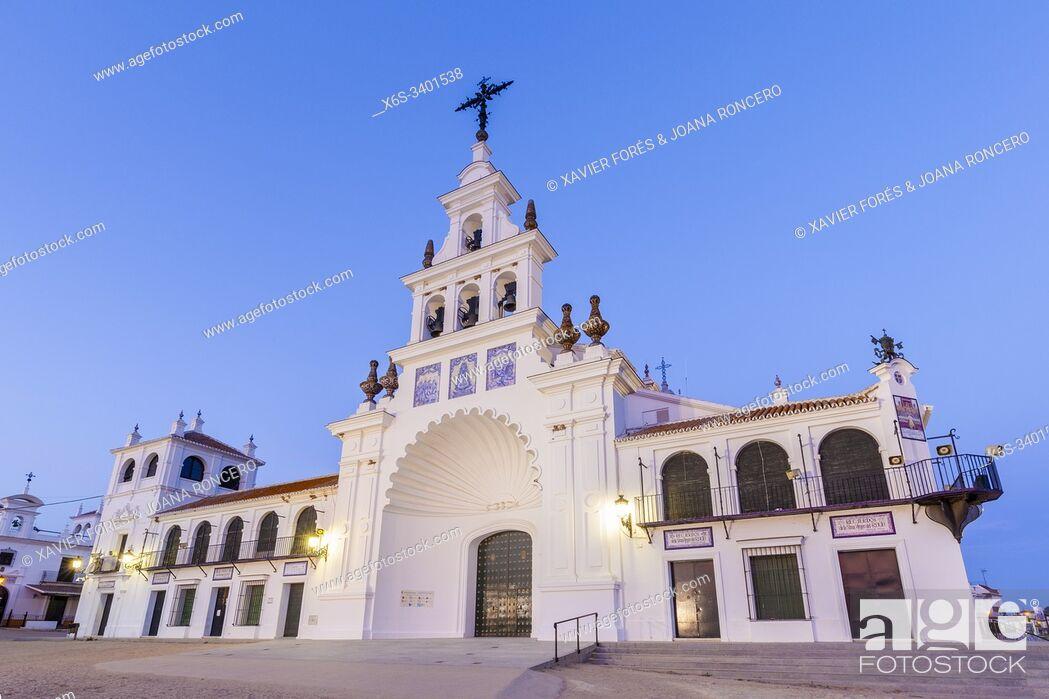 Imagen: Sanctuary of Nuestra Señora del Rocío, El Rocío, Almonte, Huelva, Spain.