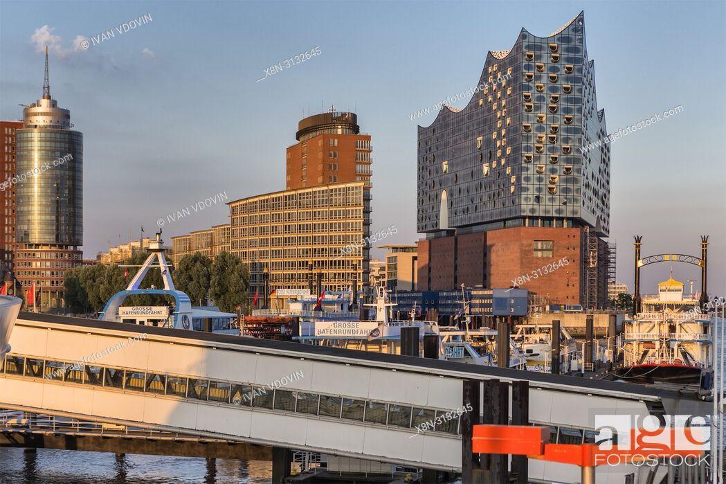 Stock Photo: Elbphilharmonie (2017), Elbe Philharmonic Hall, HafenCity, Hamburg, Germany.