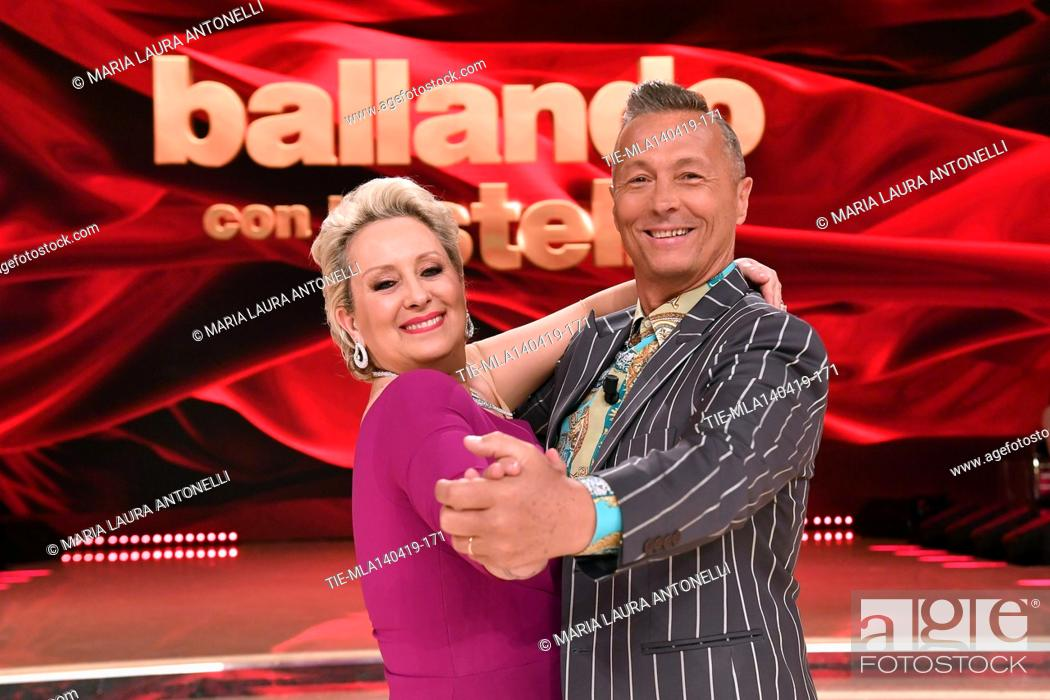 Stock Photo: Carolyn Smith, Paolo Belli at the talent show ' Ballando con le stelle ' (Dancing with the stars) Rome, ITALY-14-04-2019.