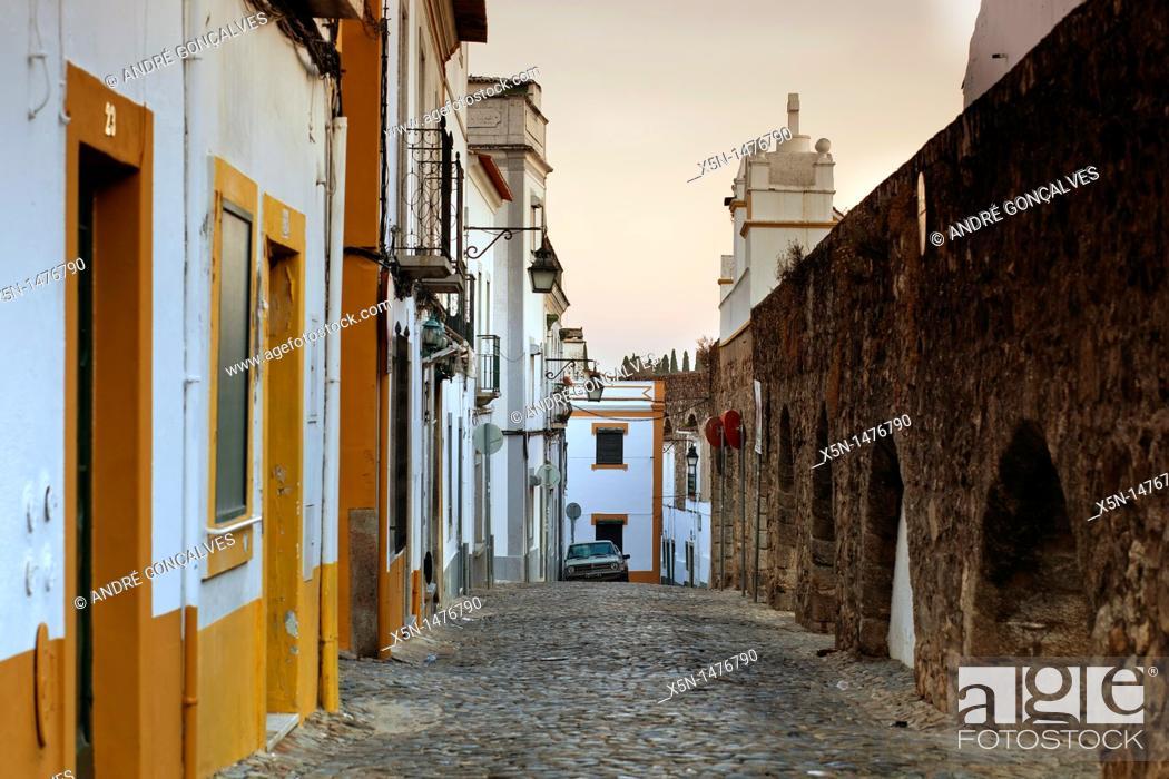 Stock Photo: Cano Street, Evora, Portugal, Europe.