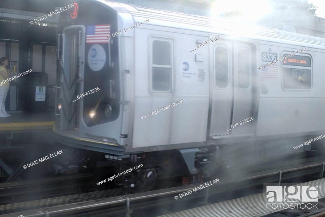 Stock Photo: Macy Avenue subway station, Brooklyn, New York, USA.