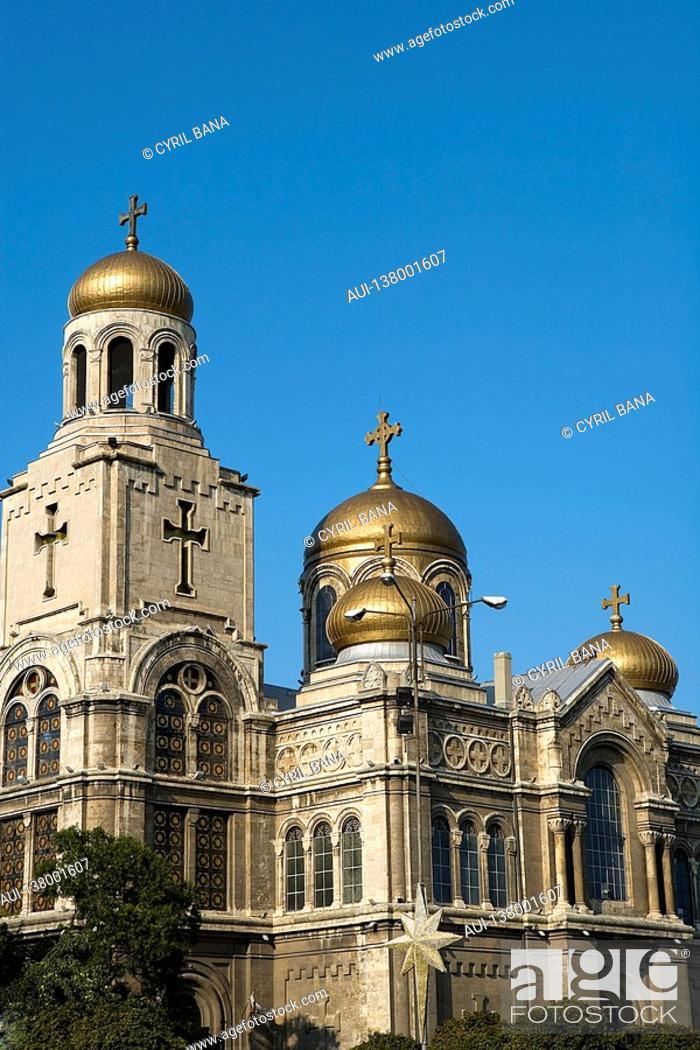 Stock Photo: Bulgaria - coast - northern Black Sea - Varna - Cathedral of the Assumption.