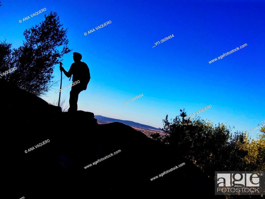 Stock Photo: Sierra de Montánchez, Cáceres province, Spain.