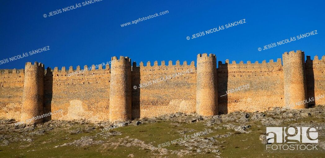 Stock Photo: Castle, Berlanga de Duero. Soria province, Castilla-León, Spain.