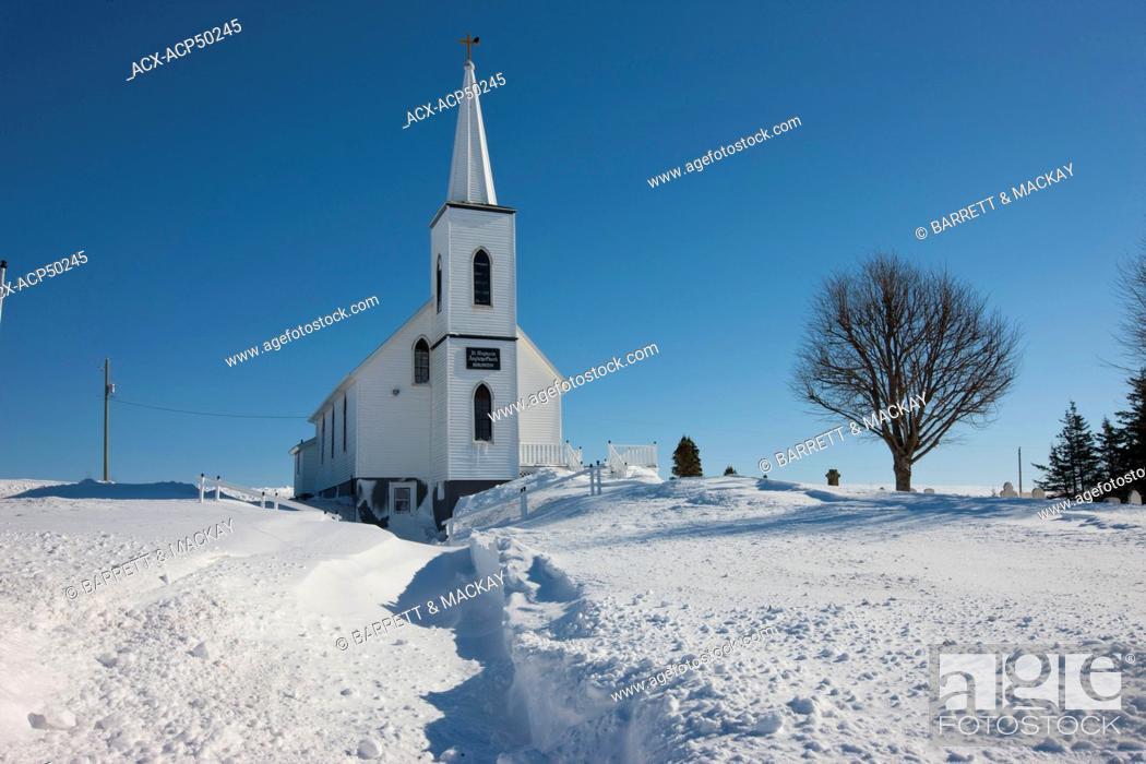 Stock Photo: Anglican church, Irishtown, Prince Edward Island, Canada.