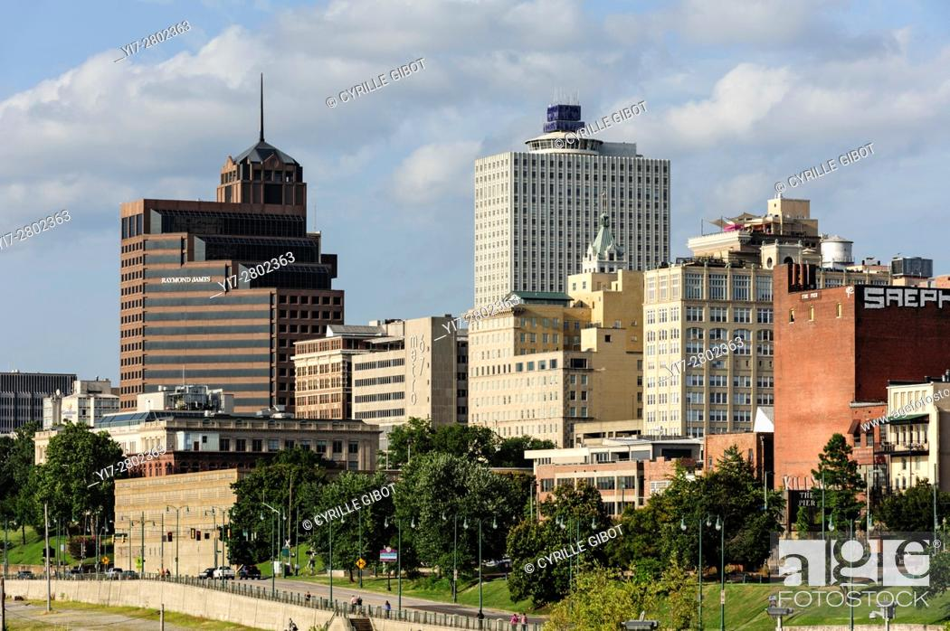 Stock Photo: The Memphis skyline, Memphis, Tennessee, USA.