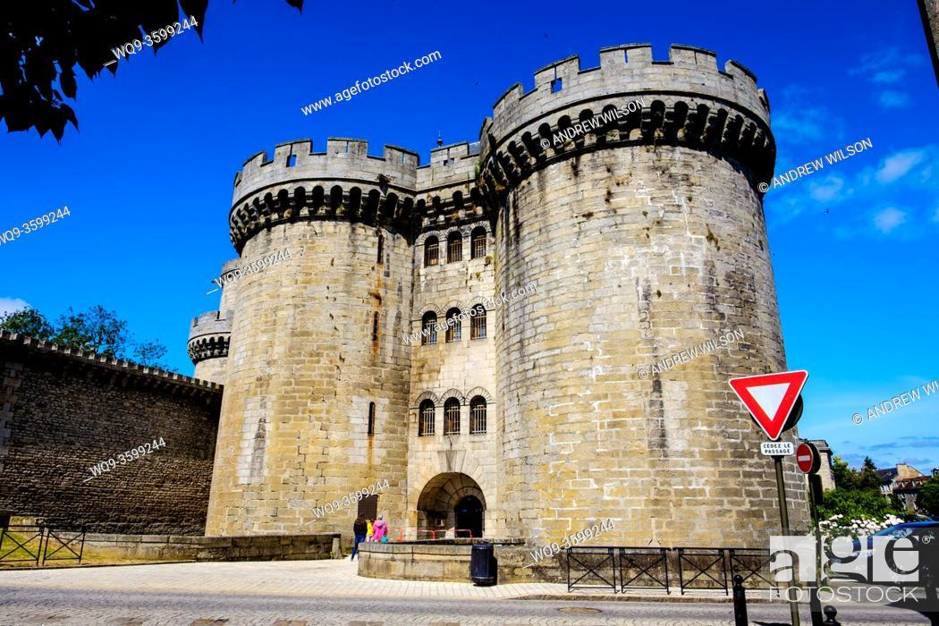 Stock Photo: The Chateau des Ducs, Alençon, Orne, Normandy, France.