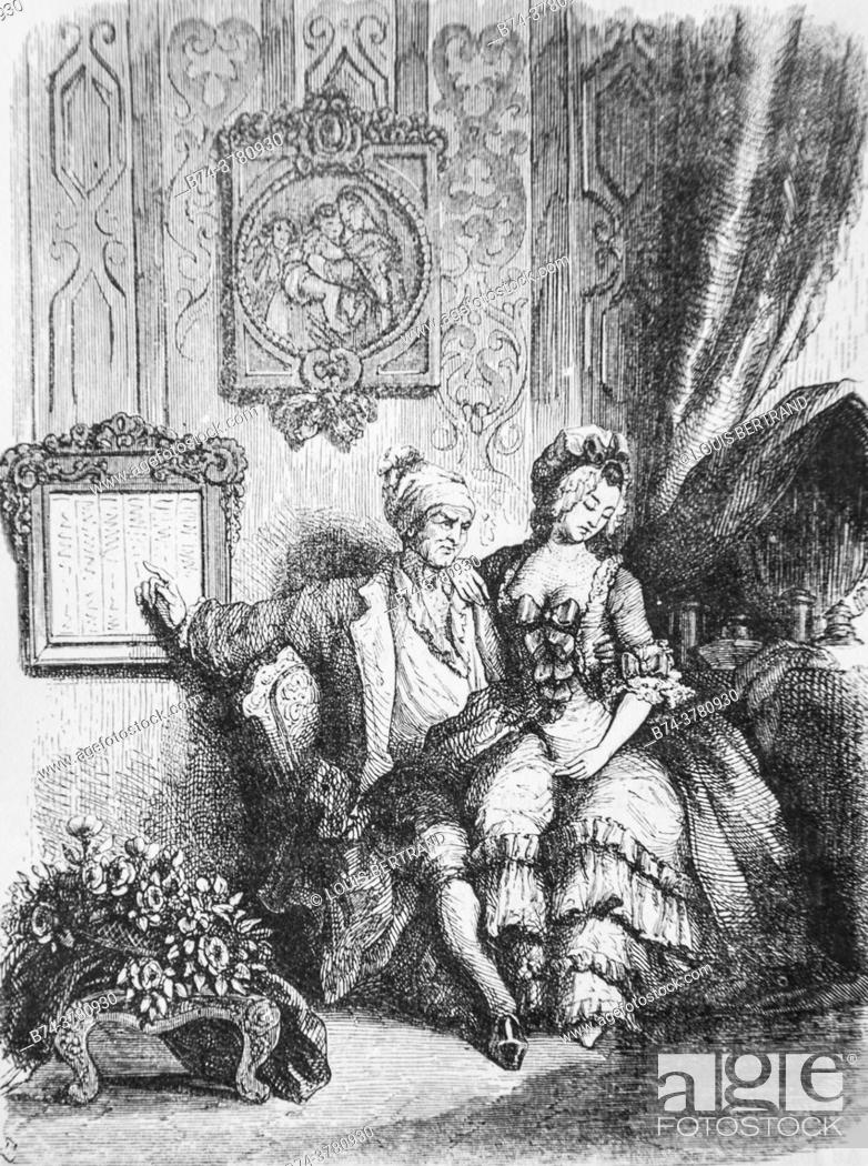 Photo de stock: the calendar of the elderly, , tales of the fountain publisher garnier freres 1870.