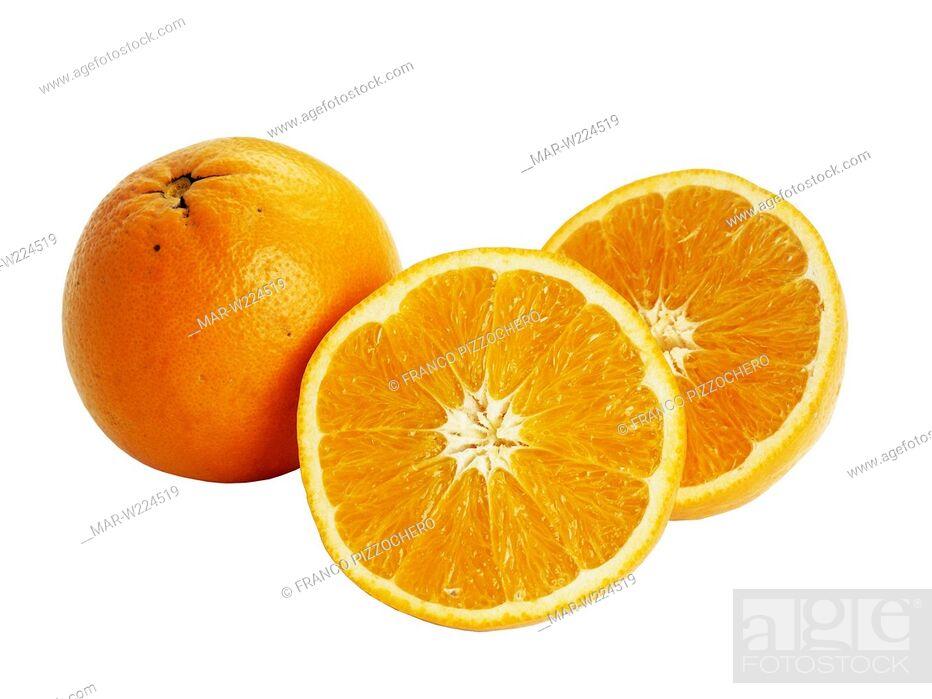 Stock Photo: washington navel oranges.