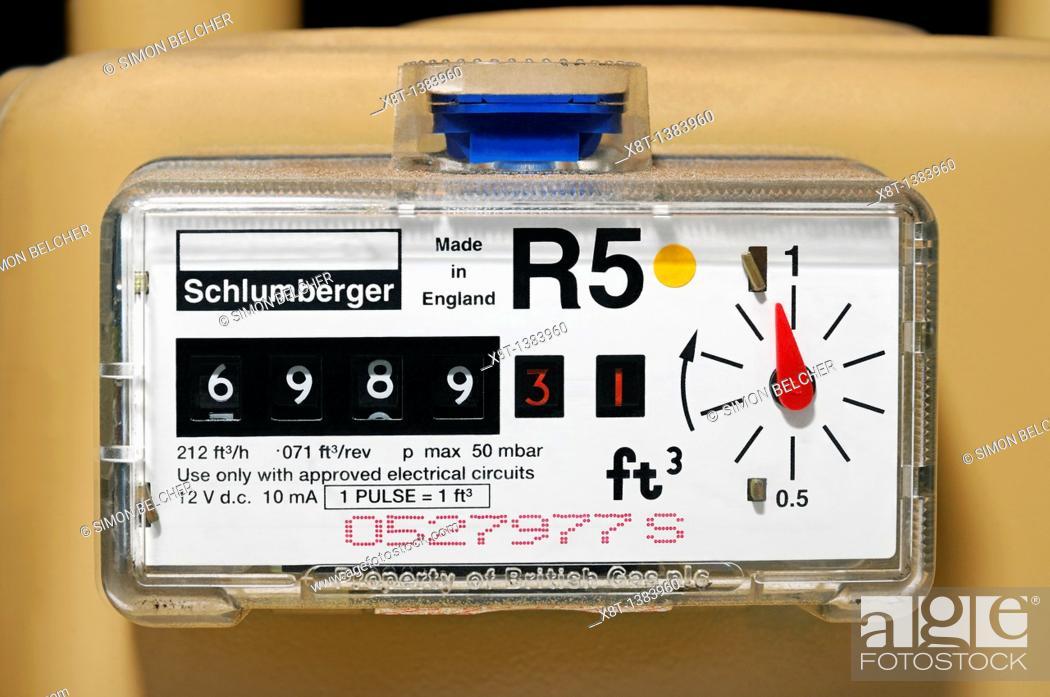 Stock Photo: Gas Meter, UK.