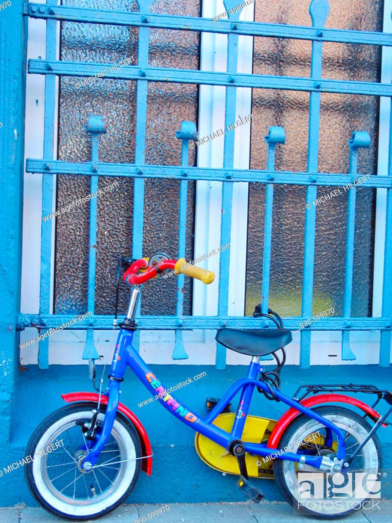 Stock Photo: Children's bicycle. Kiel, Germany.