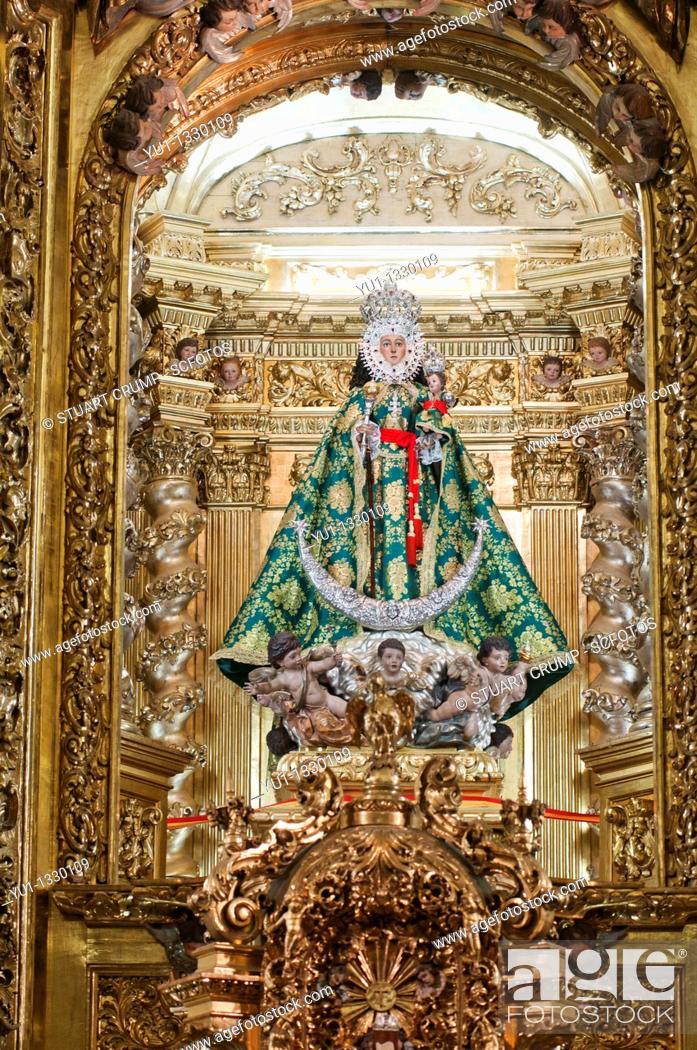 Stock Photo: Virgin of la Fuensanta  Interior of La Fuensanta Sanctuary Murcia, South Eastern Spain.