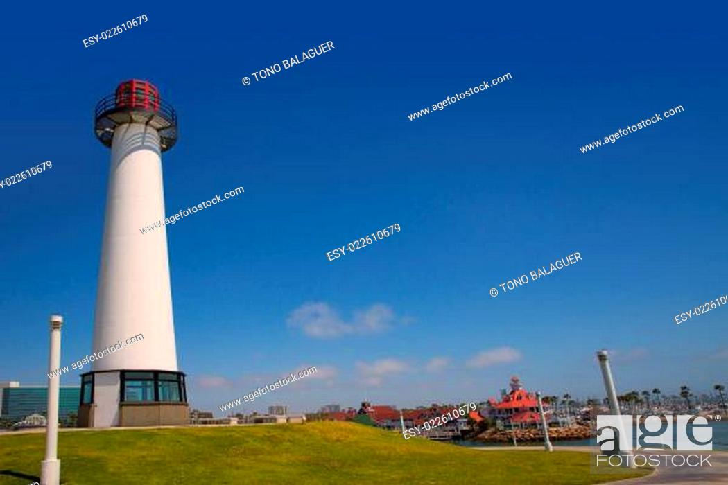 Imagen: Long Beach California skyline from Shoreline Lighthouse.