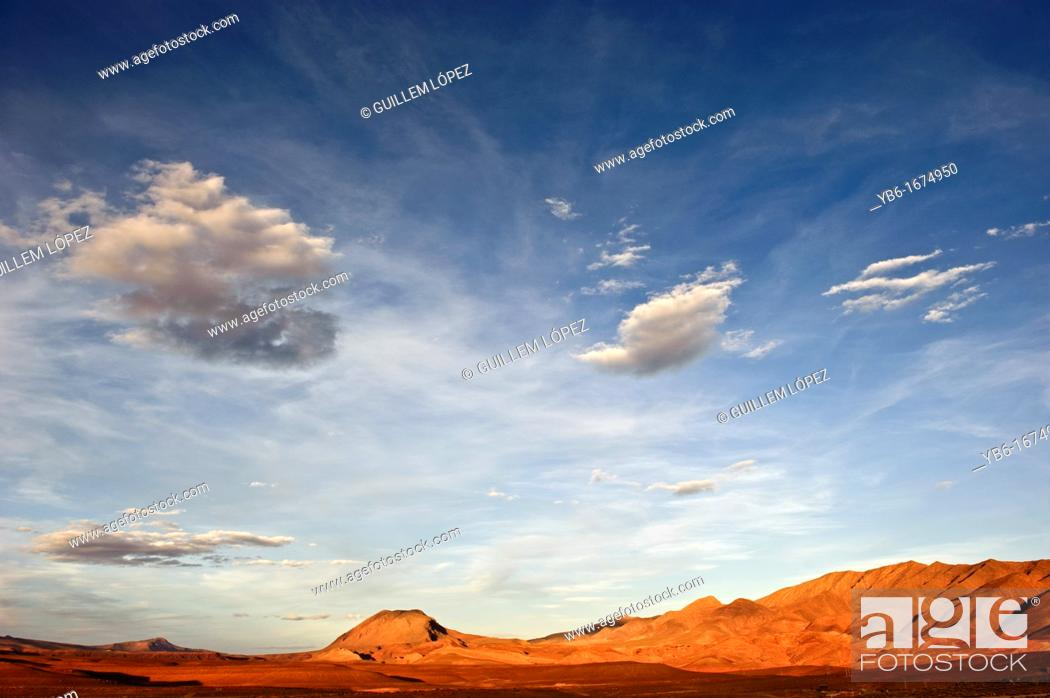 Stock Photo: View of the Atlas Mountains from Tamtattouchte, Dades Valley, Morocco.
