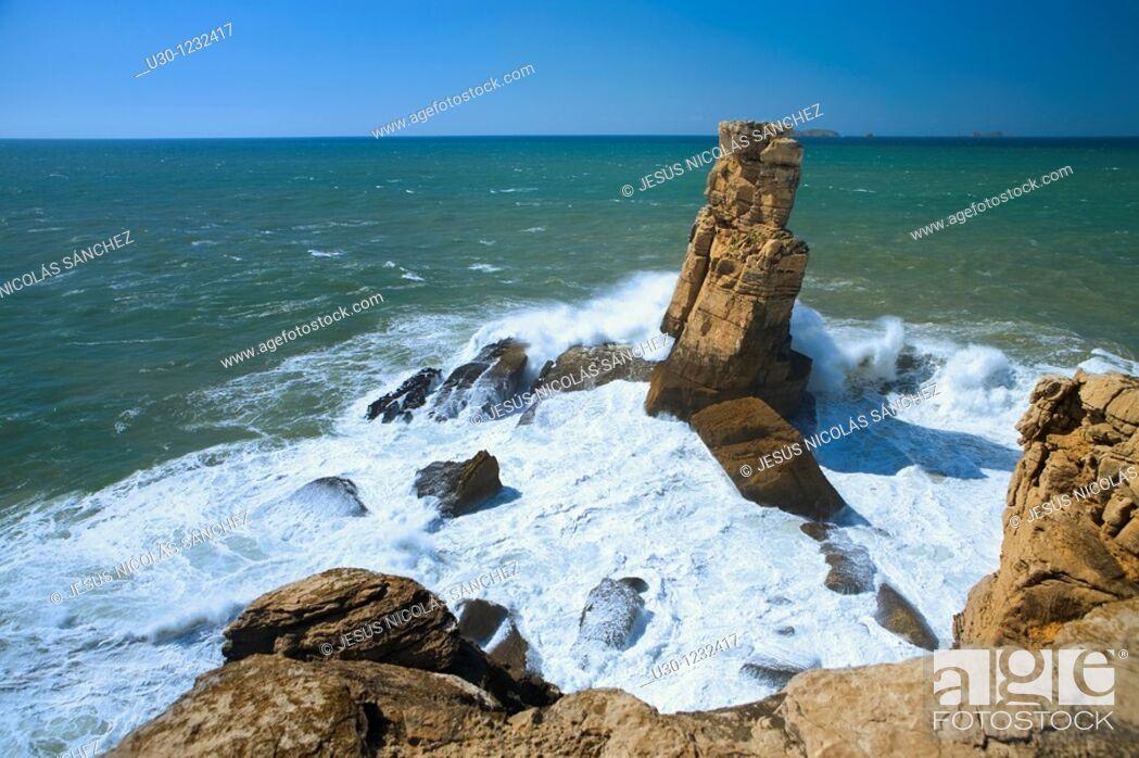 Stock Photo: Cape Carvoeiro, Peniche  Leiria District  Portugal.