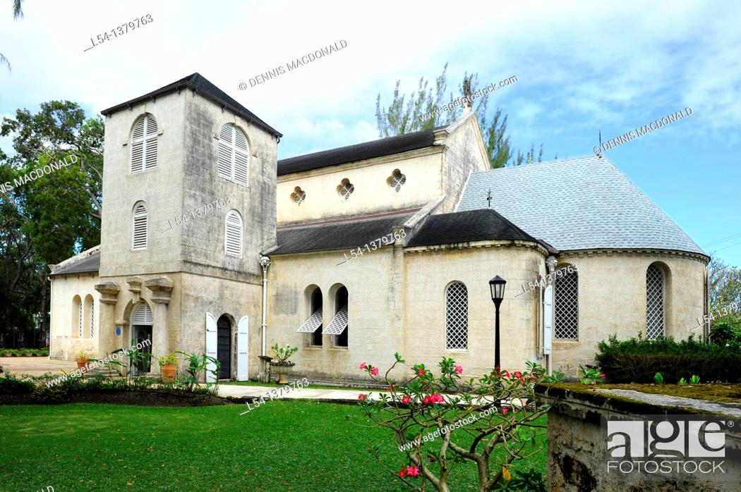 Stock Photo: St  James Anglican Church Bridgetown Barbados Caribbean Cruise NCL.