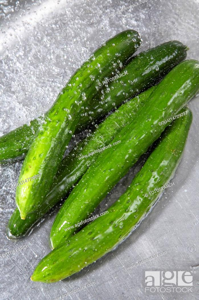 Stock Photo: Cucumber.