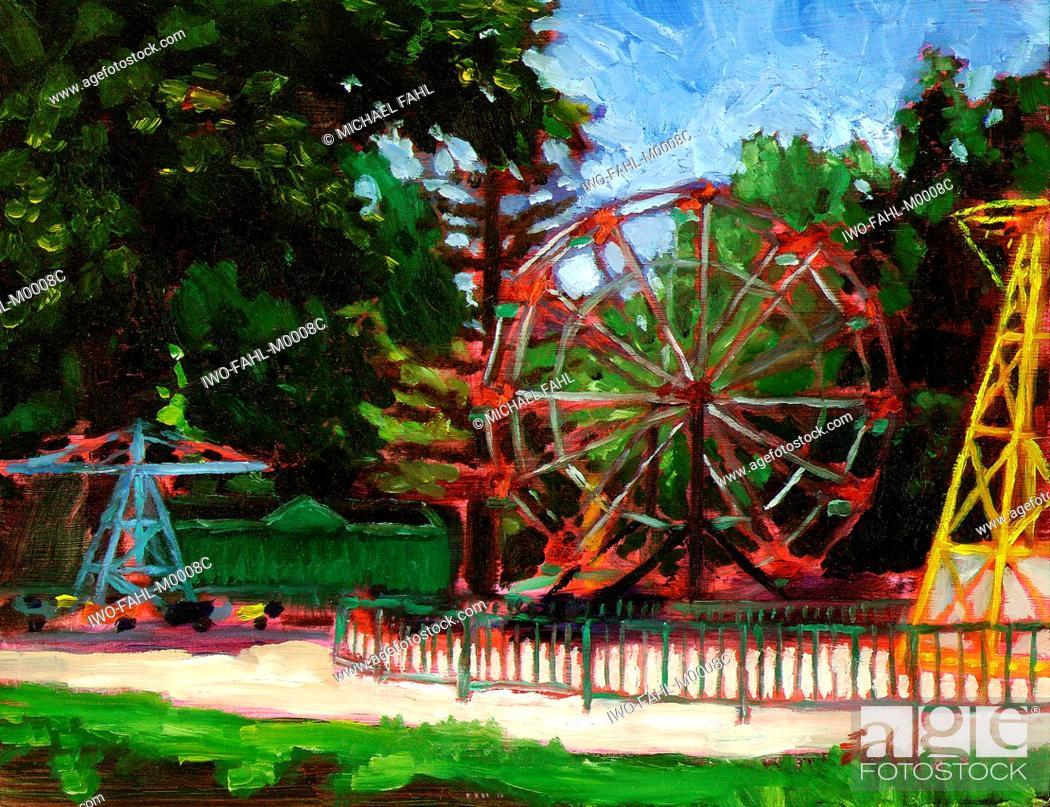 Stock Photo: Amusement Park.