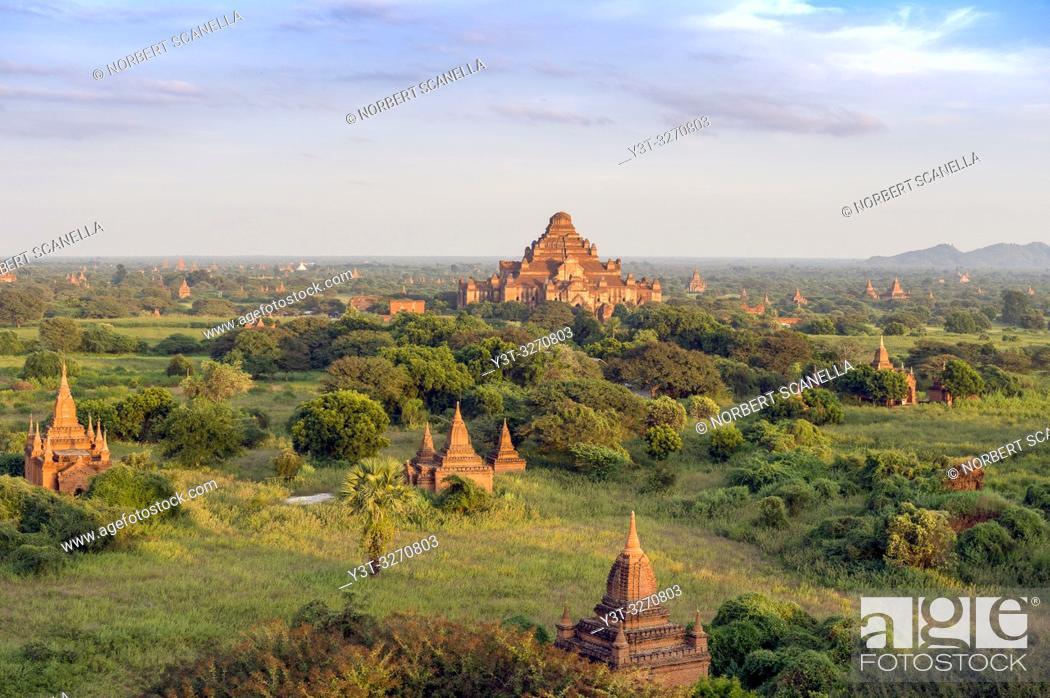 Stock Photo: Myanmar (ex Birmanie). Bagan, région de Mandalay. La plaine de Bagan. Le temple de Dhammayangyi / Myanmar (ex Birmanie). Bagan, Mandalay region.