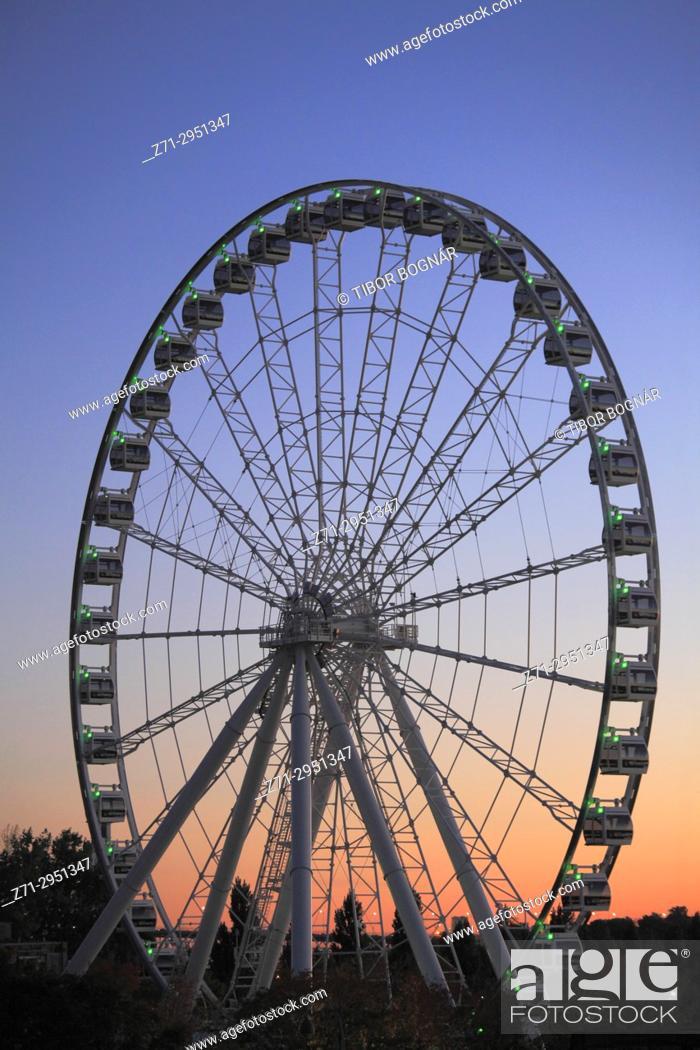 Stock Photo: Canada, Quebec, Montreal, Old Harbor, Ferris Wheel,.