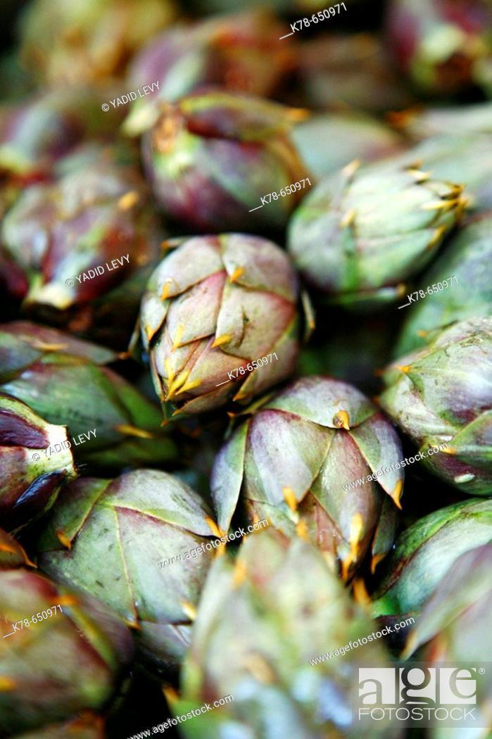 Stock Photo: Artichoke, Vucciria Market, Palermo, sicily.